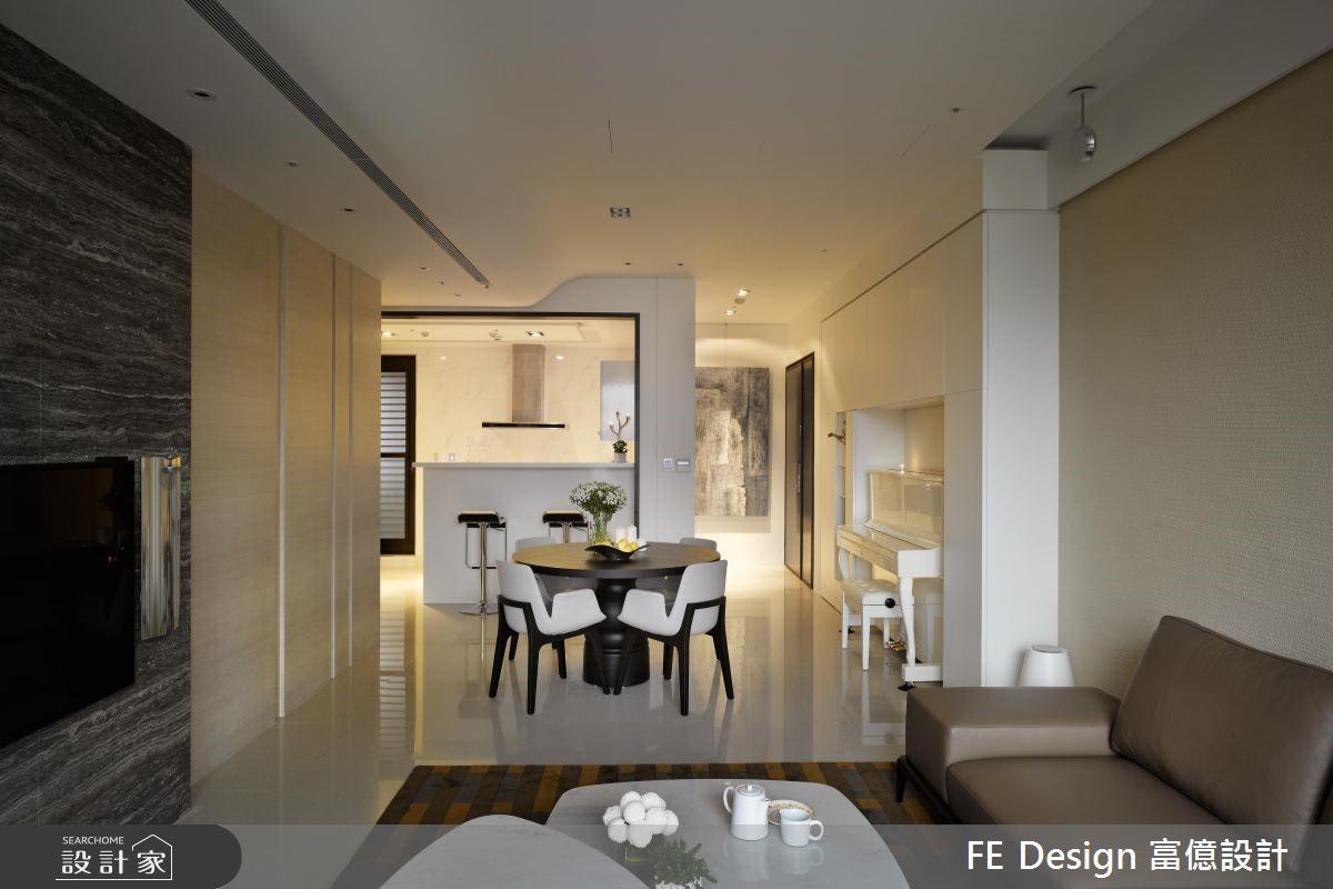 36坪新成屋(5年以下)_現代風餐廳案例圖片_富億空間設計_富億_03之3