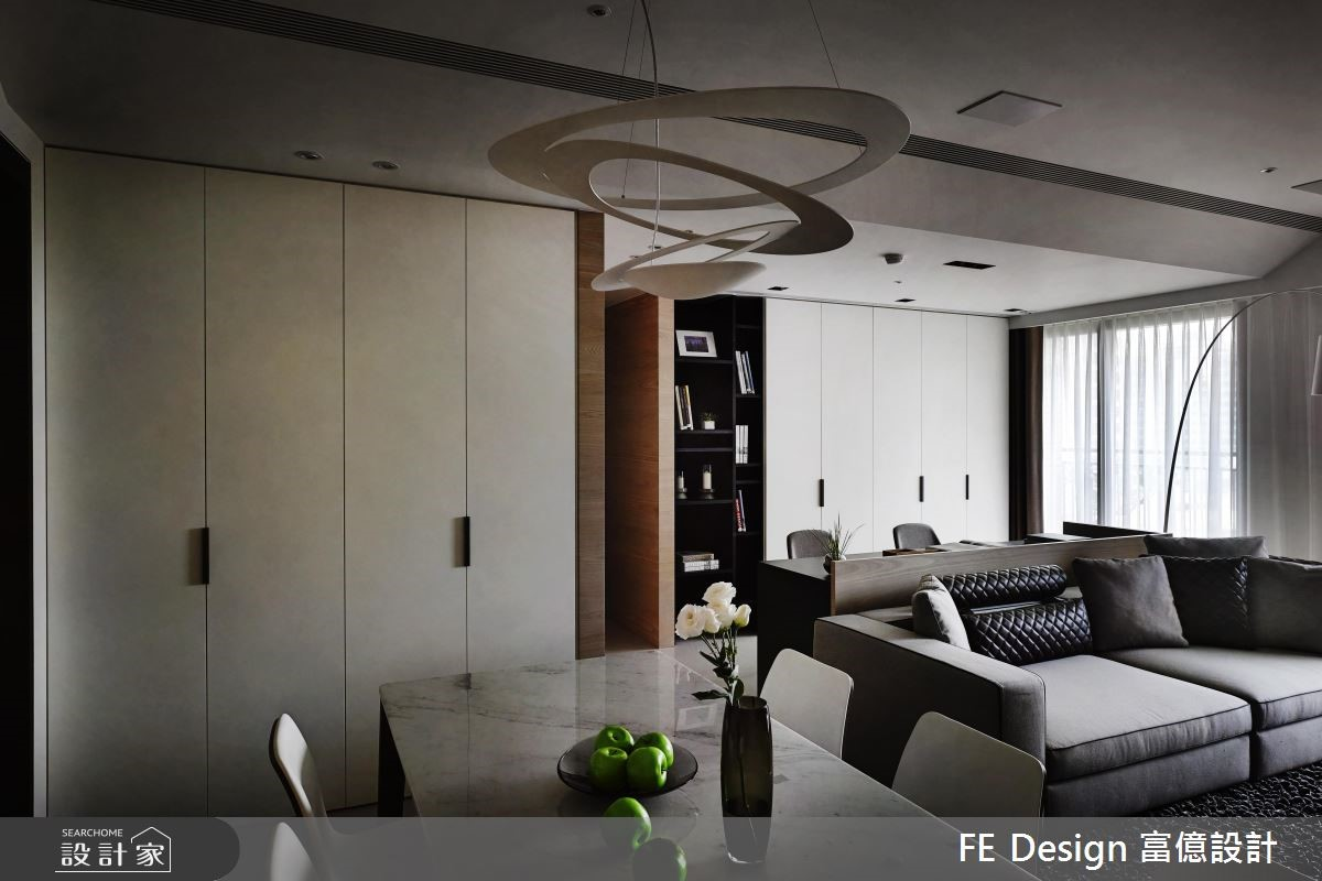 45坪預售屋_現代風客廳餐廳案例圖片_富億空間設計_富億_07之2
