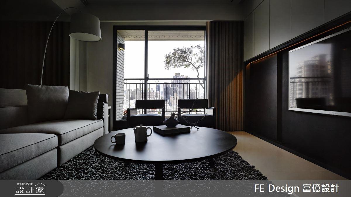 45坪預售屋_現代風客廳案例圖片_富億空間設計_富億_07之4