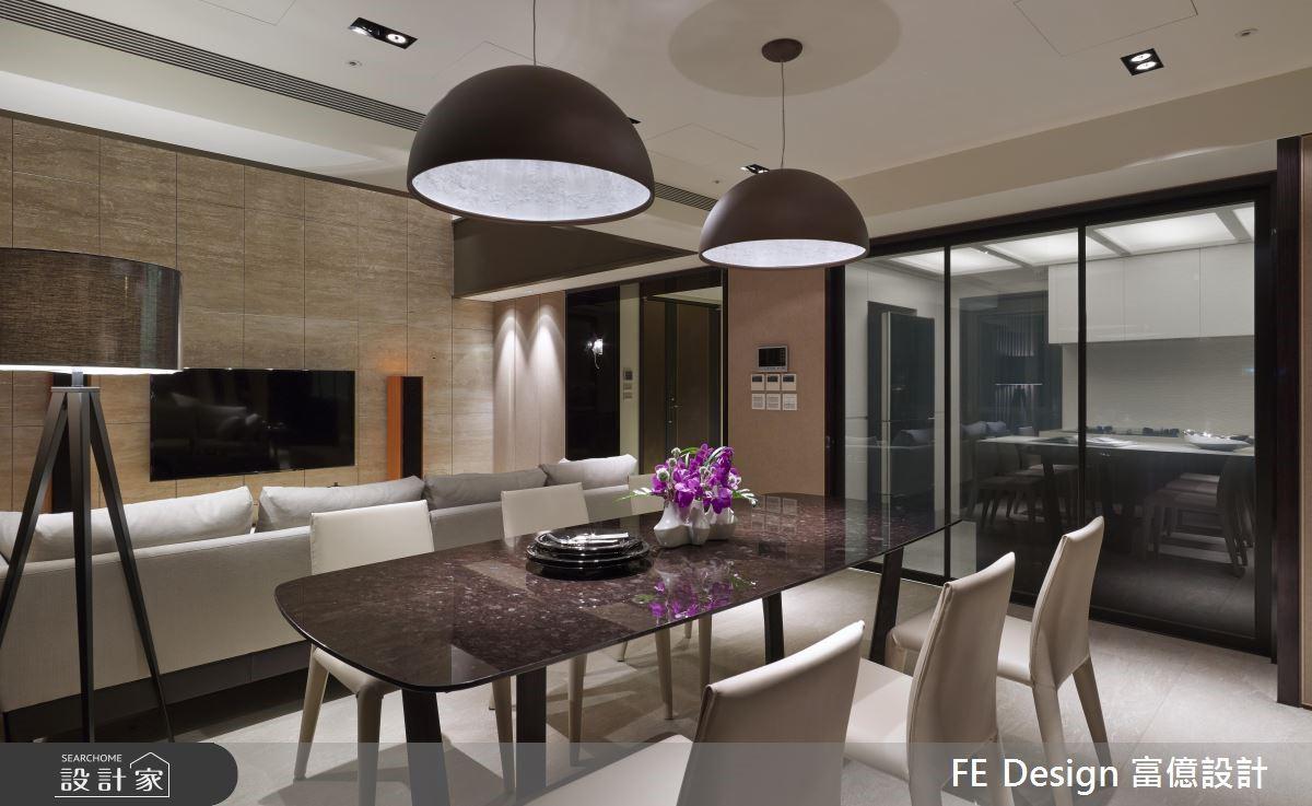 85坪中古屋(5~15年)_現代風餐廳廚房案例圖片_富億空間設計_富億_12之8
