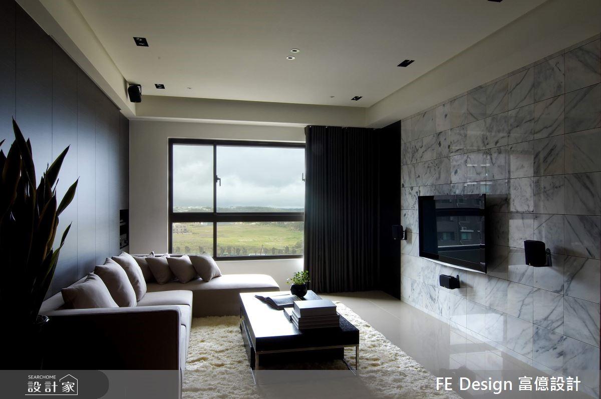 56坪新成屋(5年以下)_現代風客廳案例圖片_富億空間設計_富億_13之1