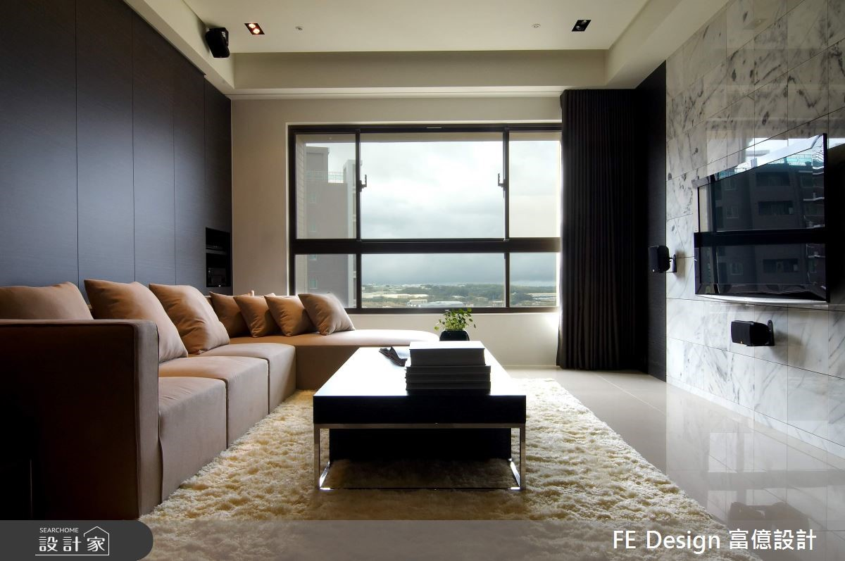 56坪新成屋(5年以下)_現代風客廳案例圖片_富億空間設計_富億_13之3