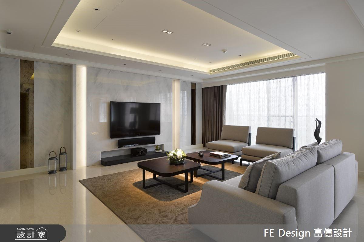 94坪新成屋(5年以下)_新古典客廳案例圖片_富億空間設計_富億_15之4