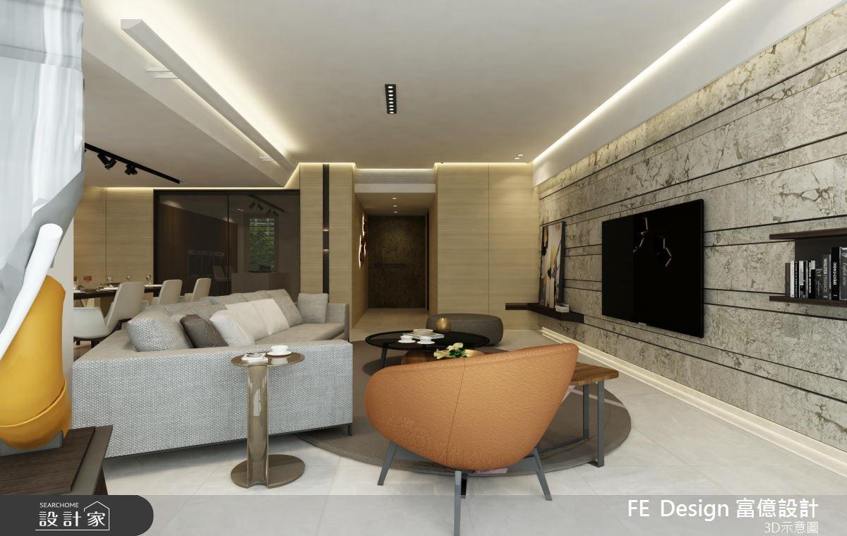 45坪新成屋(5年以下)_現代風客廳案例圖片_富億空間設計_富億_16之6