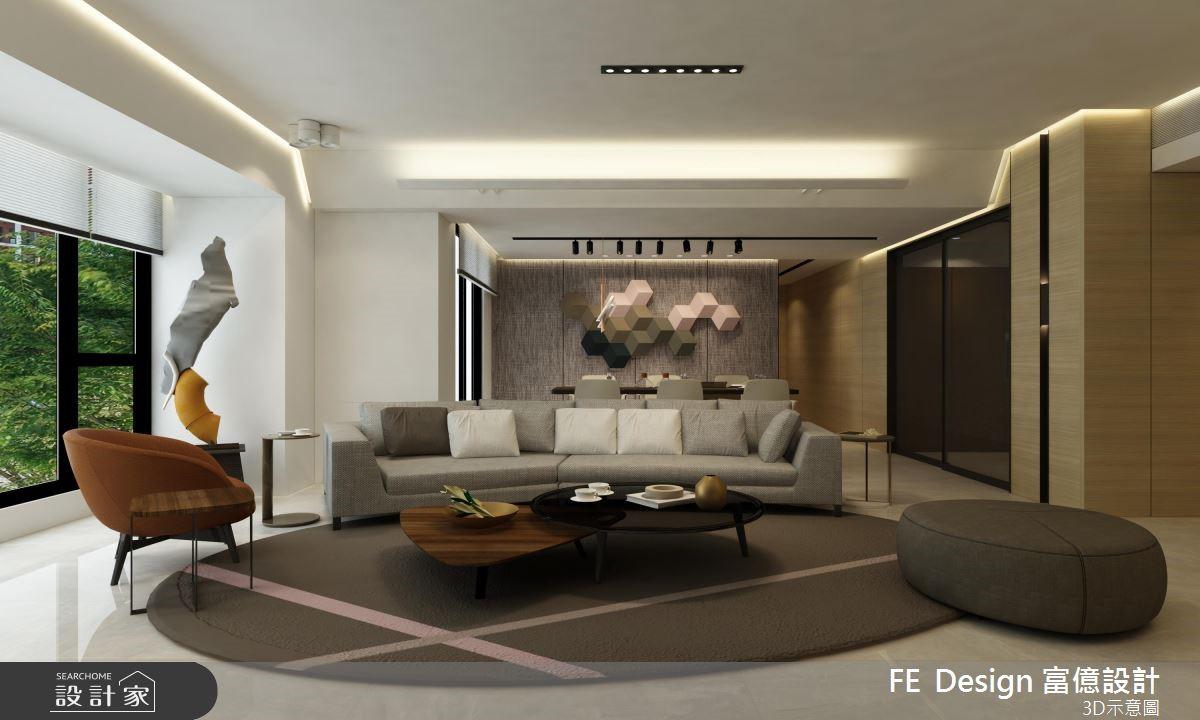 45坪新成屋(5年以下)_現代風客廳案例圖片_富億空間設計_富億_16之4