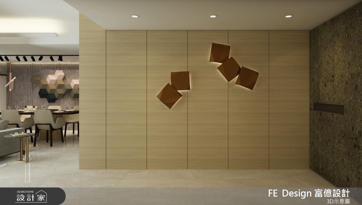 45坪新成屋(5年以下)_現代風玄關案例圖片_富億空間設計_富億_16之2