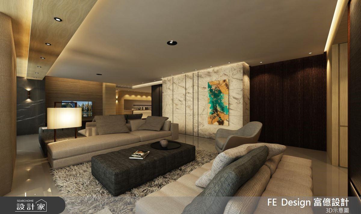 105坪老屋(16~30年)_現代風客廳案例圖片_富億空間設計_富億_19之2