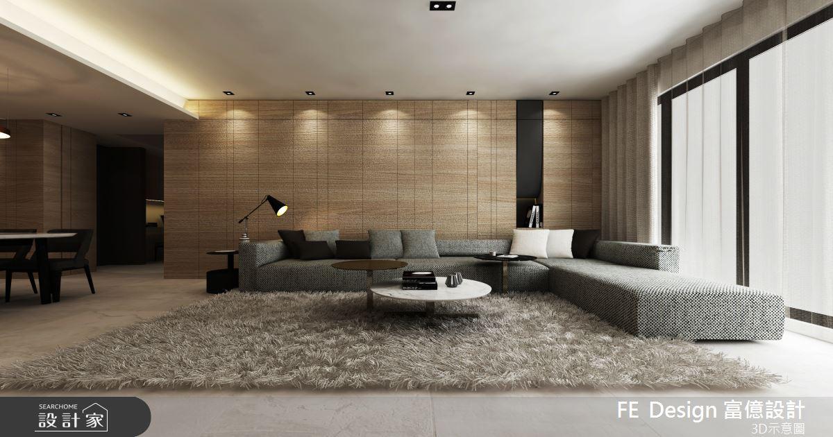 57坪預售屋_簡約風客廳案例圖片_富億空間設計_富億_26之2