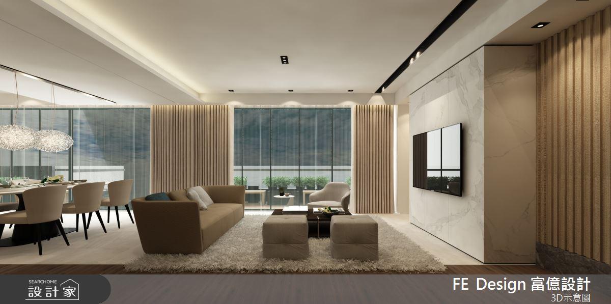 57坪預售屋_簡約風客廳案例圖片_富億空間設計_富億_27之1