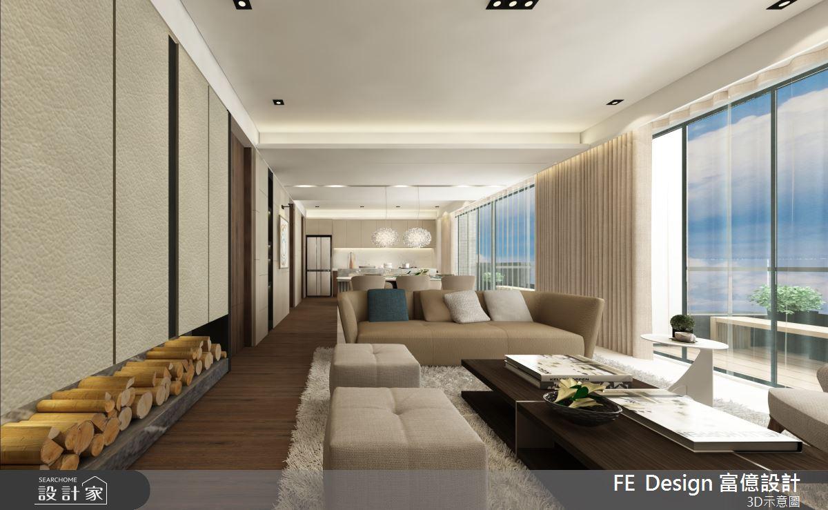 57坪預售屋_簡約風客廳案例圖片_富億空間設計_富億_27之3