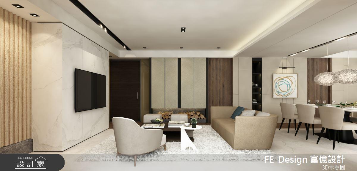 57坪預售屋_簡約風客廳案例圖片_富億空間設計_富億_27之4