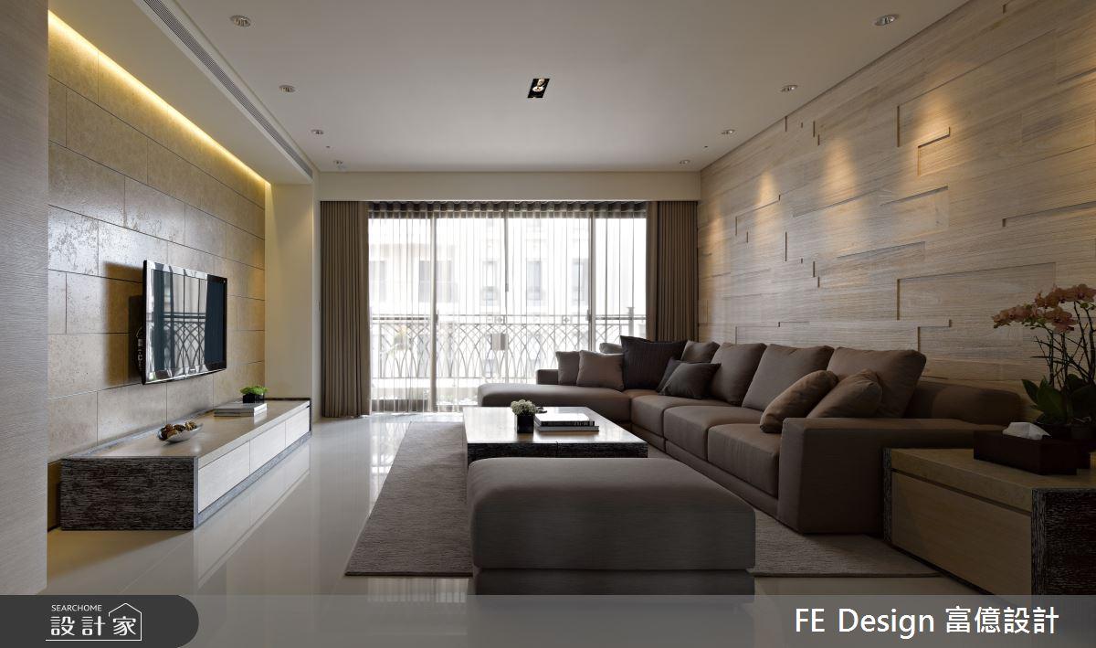 48坪預售屋_簡約風客廳案例圖片_富億空間設計_富億_31之4