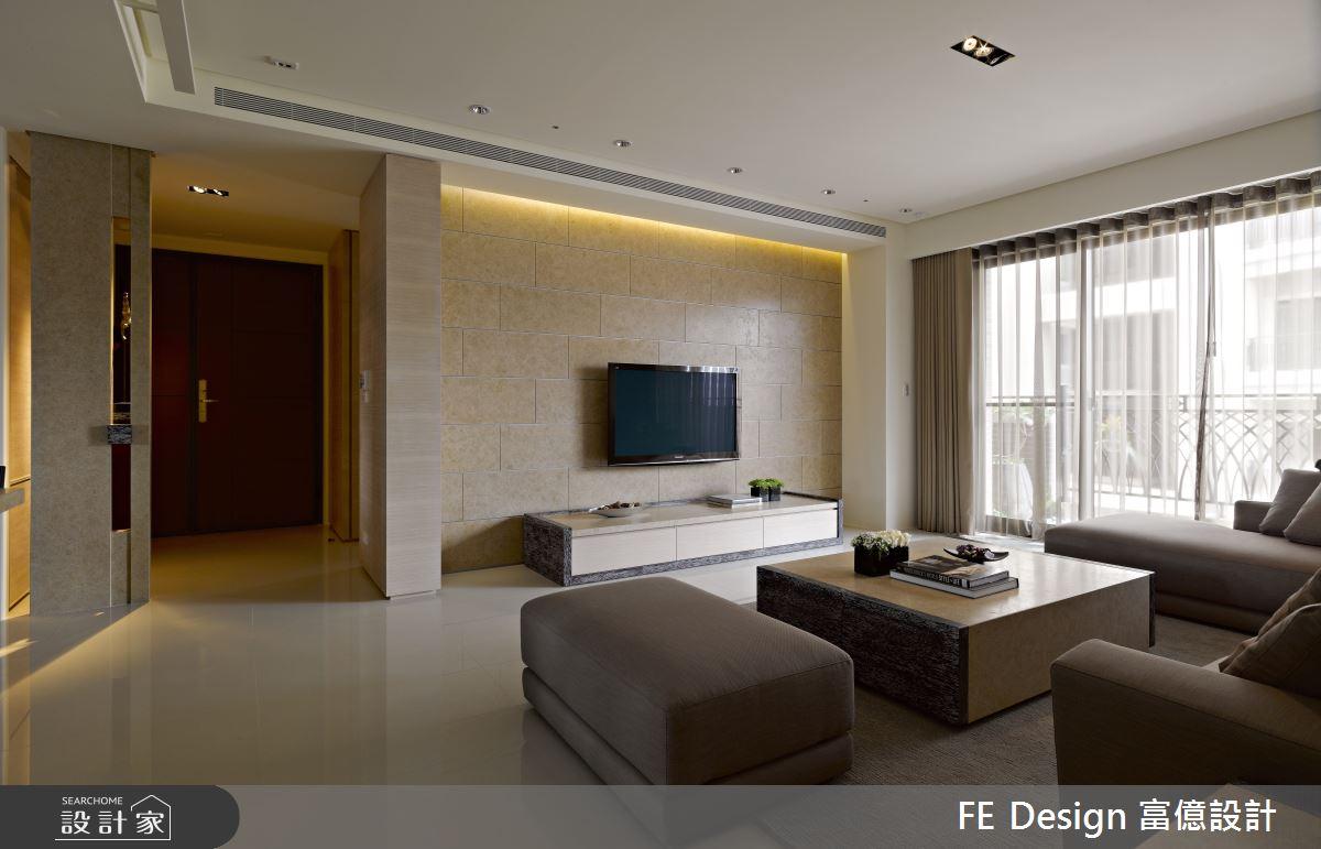 48坪預售屋_簡約風客廳案例圖片_富億空間設計_富億_31之3