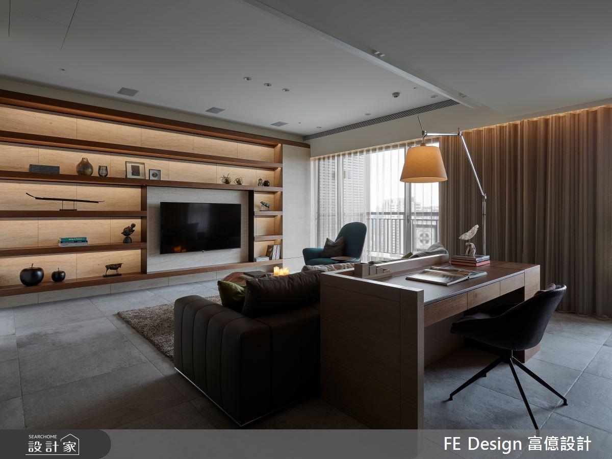 44坪預售屋_簡約風客廳案例圖片_富億空間設計_富億_32之2