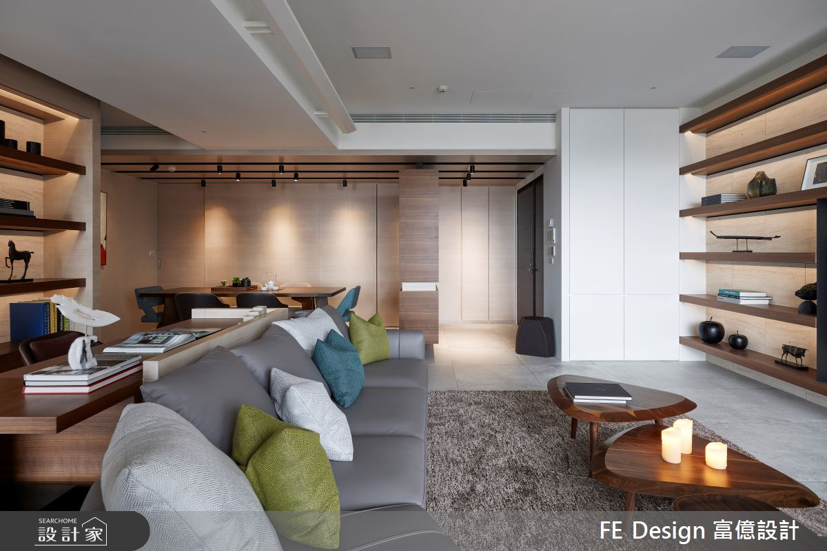 44坪預售屋_簡約風客廳案例圖片_富億空間設計_富億_32之4