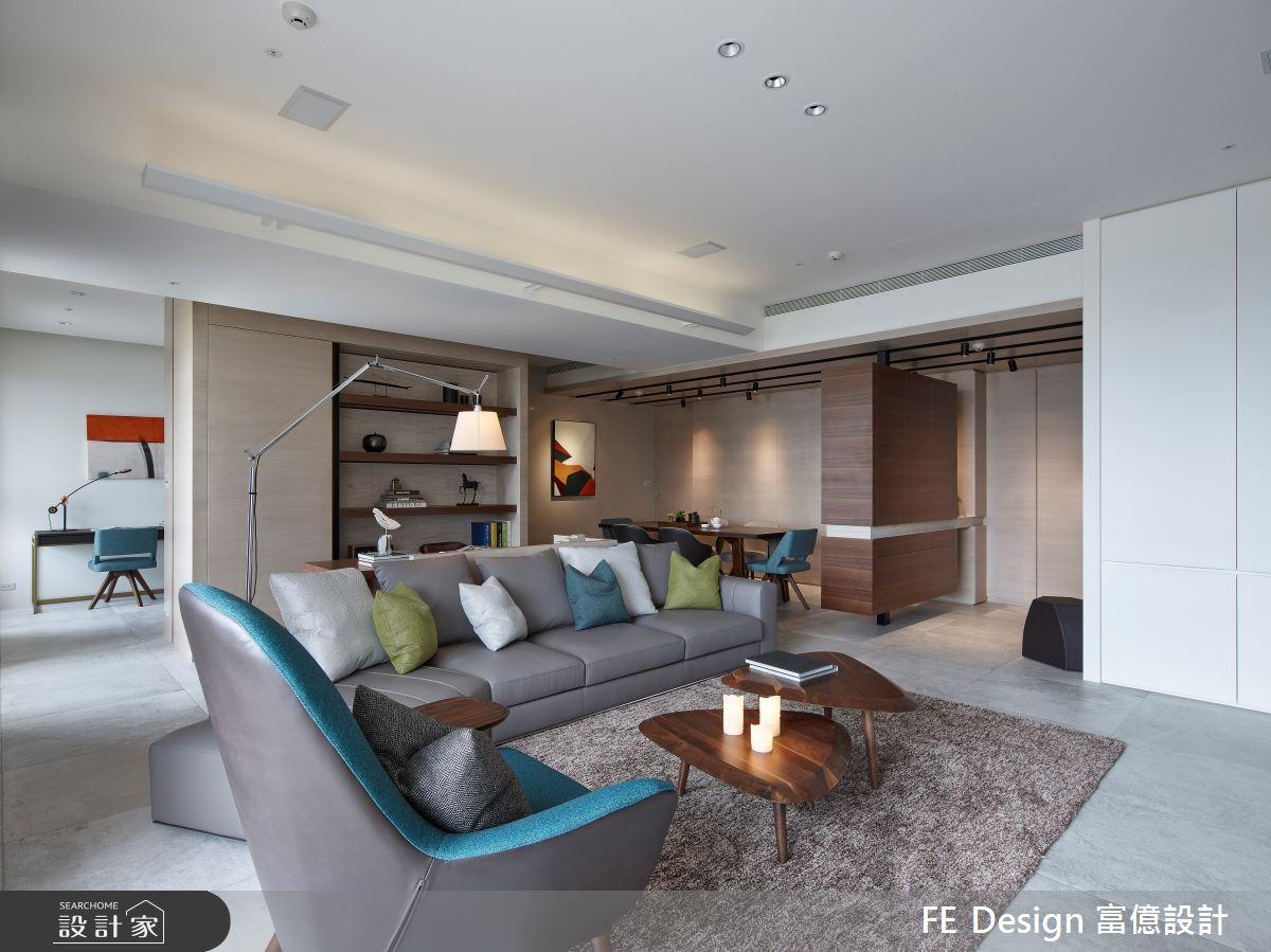 44坪預售屋_簡約風客廳案例圖片_富億空間設計_富億_32之5