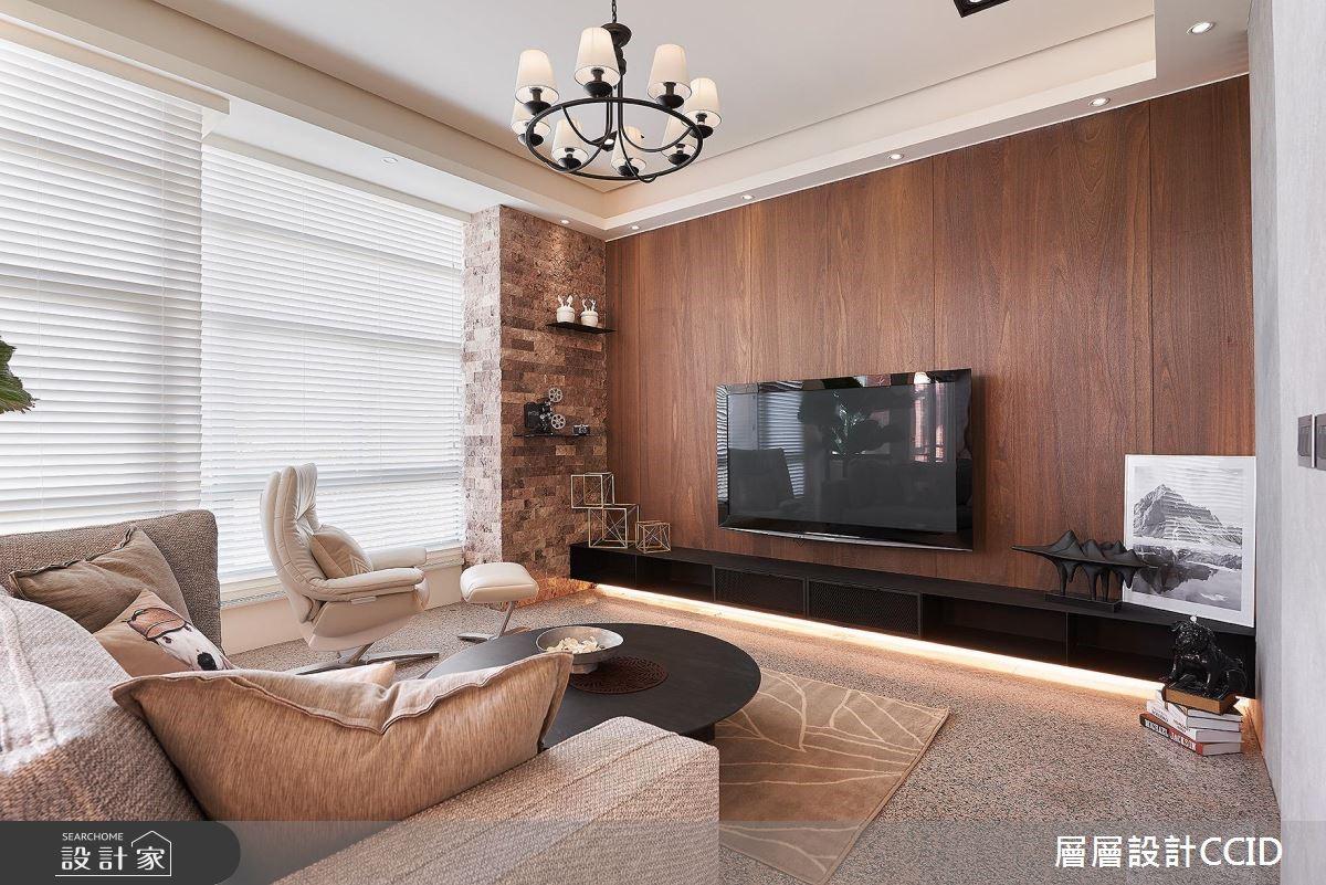 100坪老屋(16~30年)_休閒風客廳案例圖片_層層室內裝修設計有限公司_層層_02之1