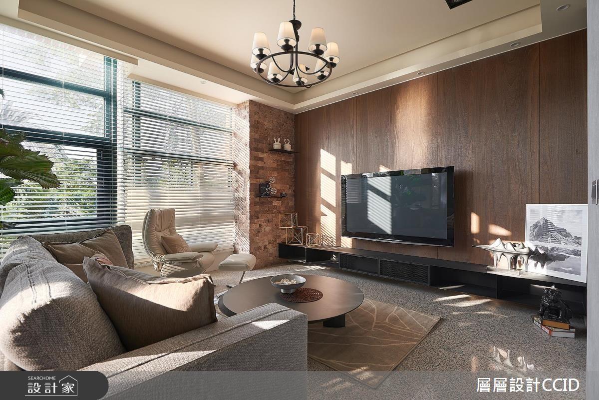 100坪老屋(16~30年)_休閒風客廳案例圖片_層層室內裝修設計有限公司_層層_02之7