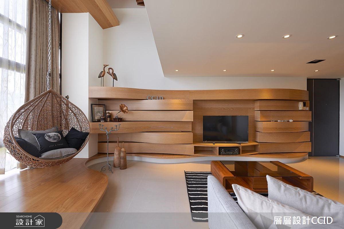 40坪中古屋(5~15年)_休閒風客廳案例圖片_層層室內裝修設計有限公司_層層_03之4