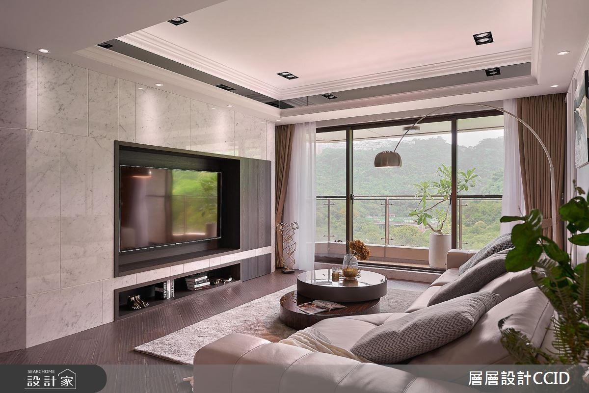 80坪新成屋(5年以下)_現代風客廳案例圖片_層層室內裝修設計有限公司_層層_04之3