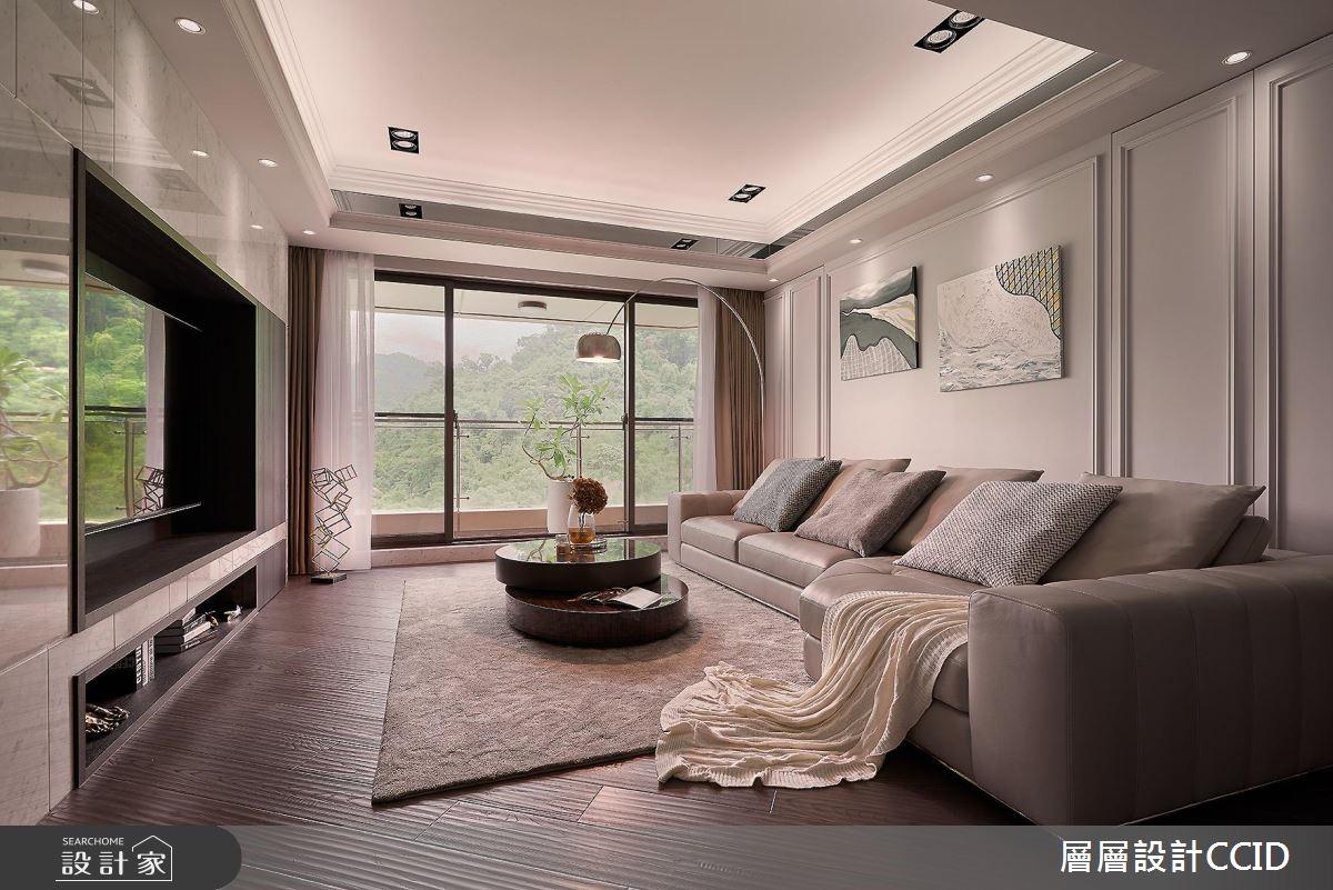 80坪新成屋(5年以下)_現代風客廳案例圖片_層層室內裝修設計有限公司_層層_04之4