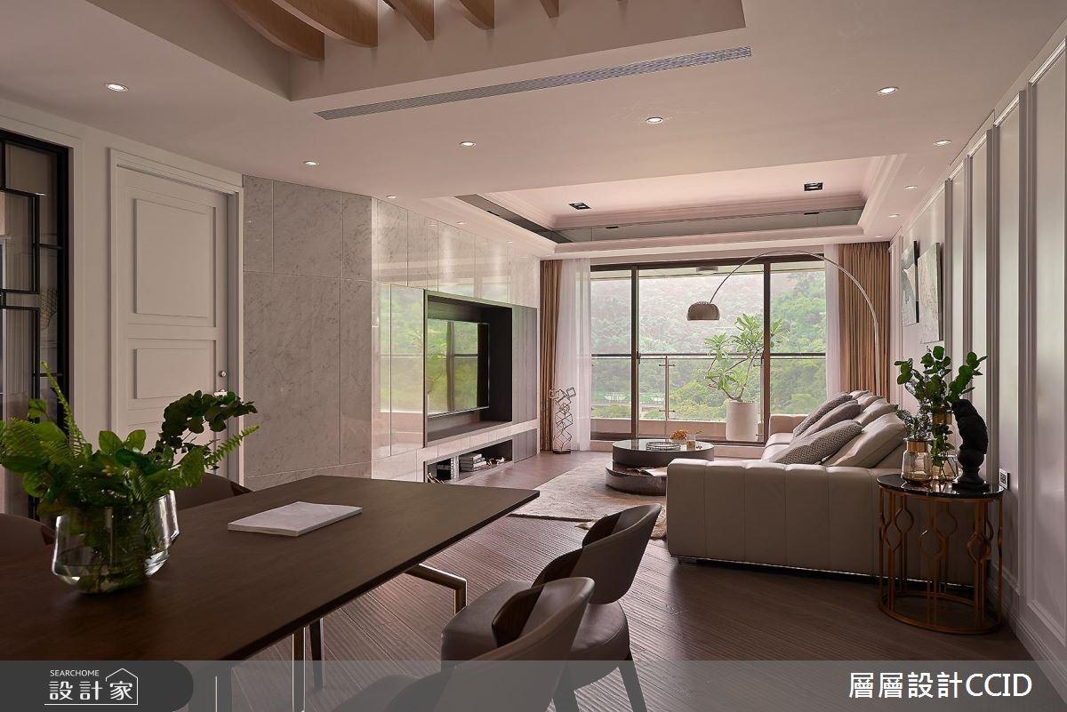 80坪新成屋(5年以下)_現代風客廳案例圖片_層層室內裝修設計有限公司_層層_04之2