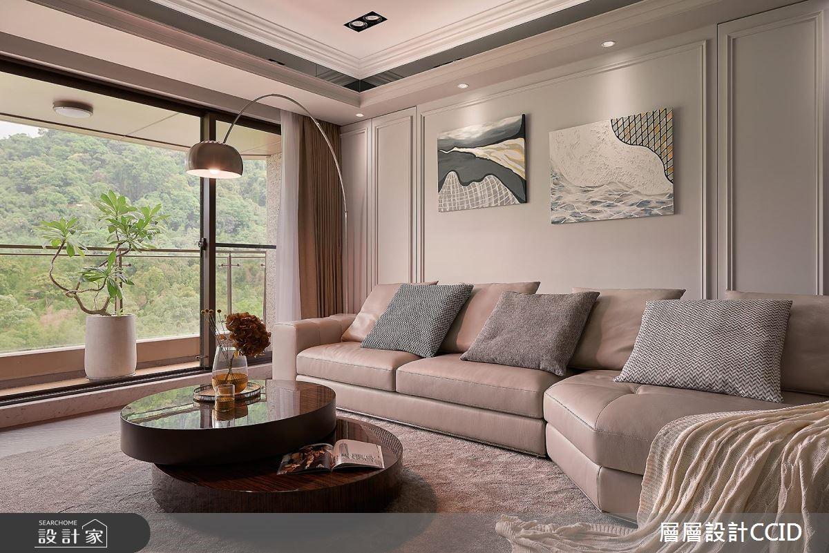 80坪新成屋(5年以下)_現代風客廳案例圖片_層層室內裝修設計有限公司_層層_04之5