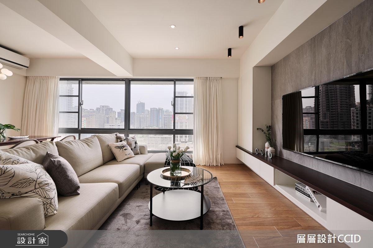 40坪新成屋(5年以下)_北歐風客廳案例圖片_層層室內裝修設計有限公司_層層_07之7