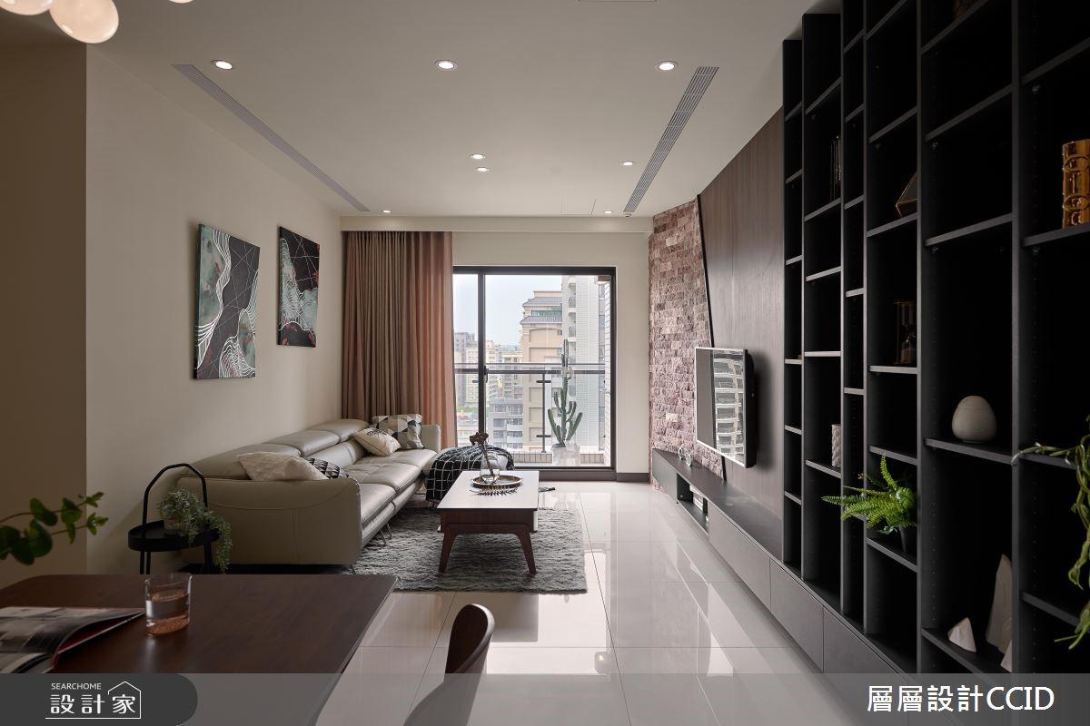 45坪新成屋(5年以下)_休閒風客廳案例圖片_層層室內裝修設計有限公司_層層_09之4