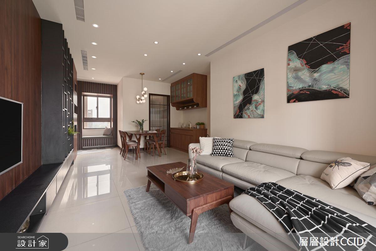 45坪新成屋(5年以下)_休閒風客廳案例圖片_層層室內裝修設計有限公司_層層_09之11