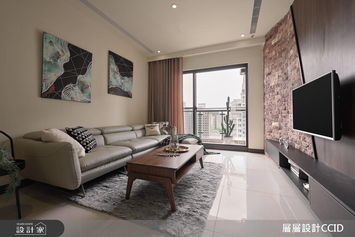 45坪新成屋(5年以下)_休閒風客廳案例圖片_層層室內裝修設計有限公司_層層_09之8