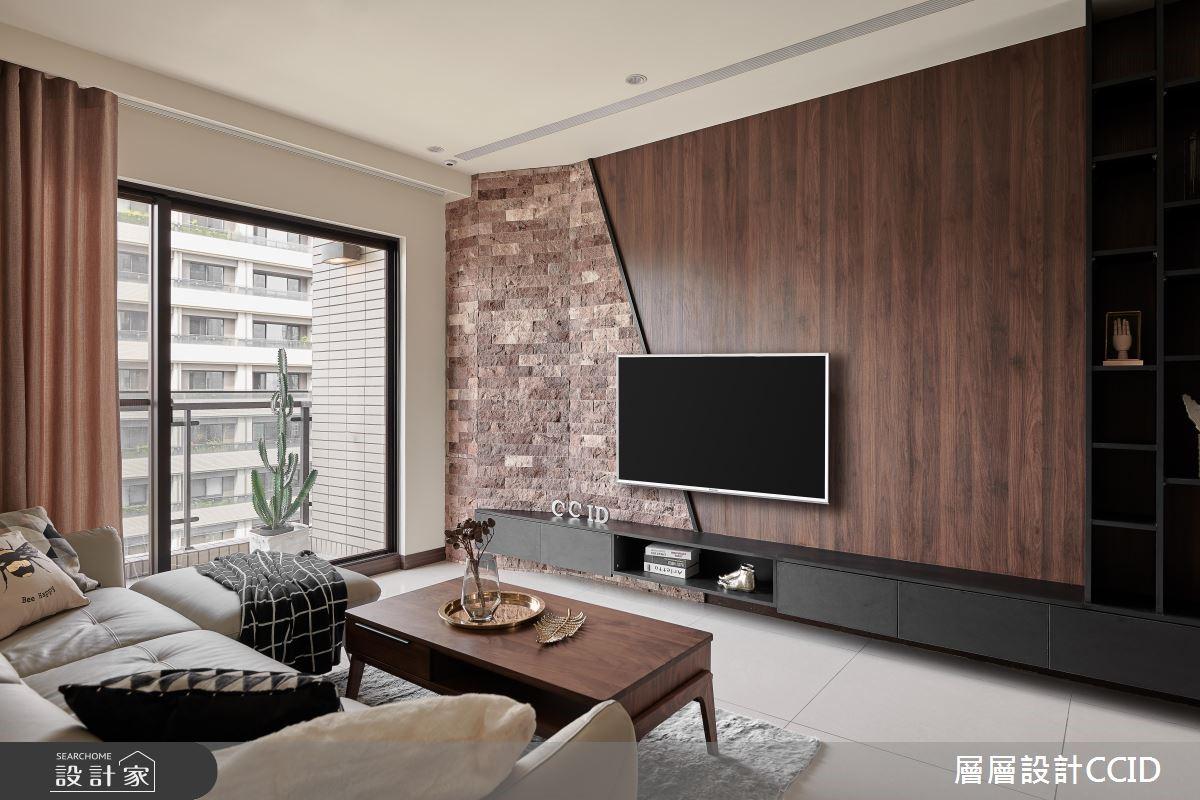 45坪新成屋(5年以下)_休閒風客廳案例圖片_層層室內裝修設計有限公司_層層_09之7