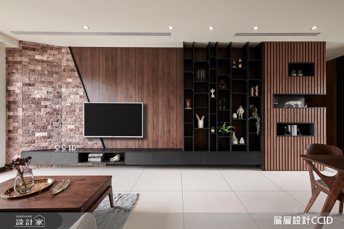45坪新成屋(5年以下)_休閒風客廳案例圖片_層層室內裝修設計有限公司_層層_09之6