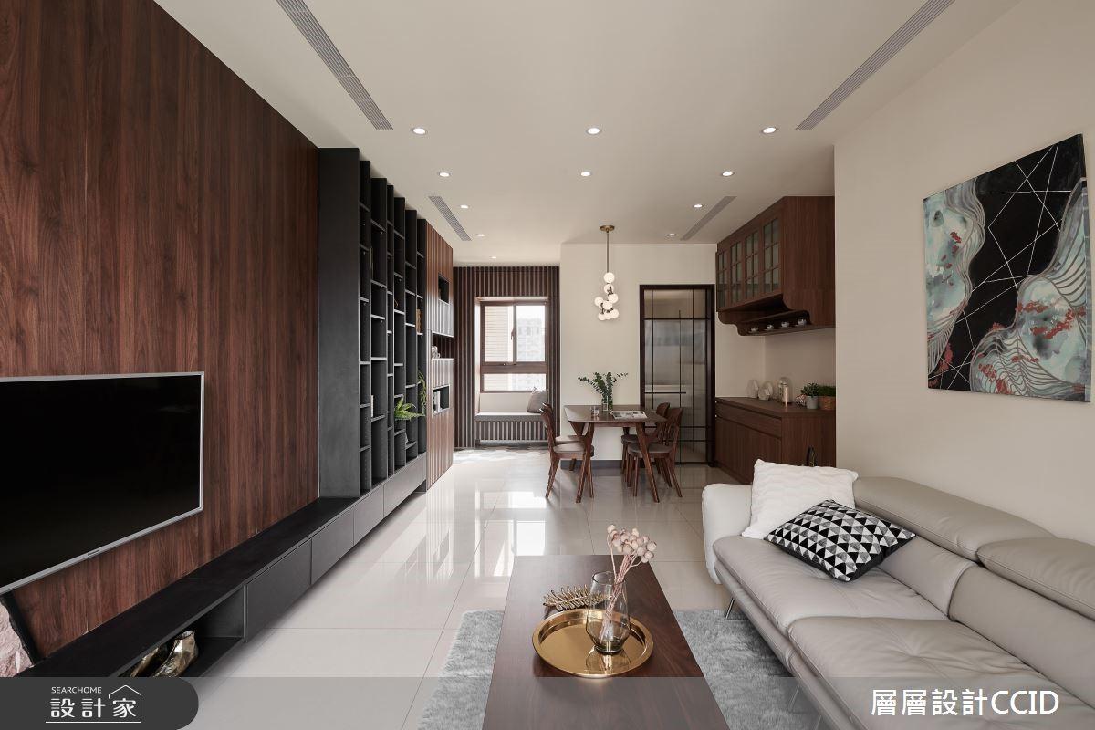 45坪新成屋(5年以下)_休閒風客廳案例圖片_層層室內裝修設計有限公司_層層_09之9