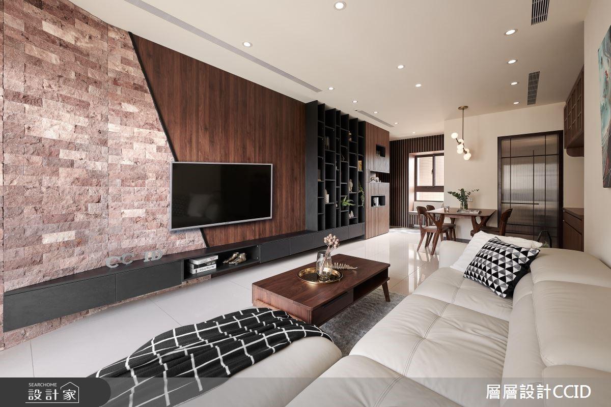 45坪新成屋(5年以下)_休閒風客廳案例圖片_層層室內裝修設計有限公司_層層_09之10