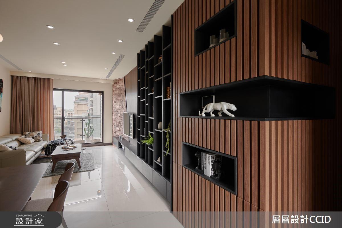 45坪新成屋(5年以下)_休閒風客廳案例圖片_層層室內裝修設計有限公司_層層_09之3