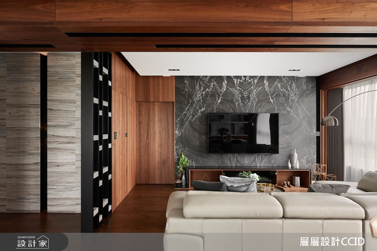60坪新成屋(5年以下)_現代風客廳案例圖片_層層室內裝修設計有限公司_層層_12之4