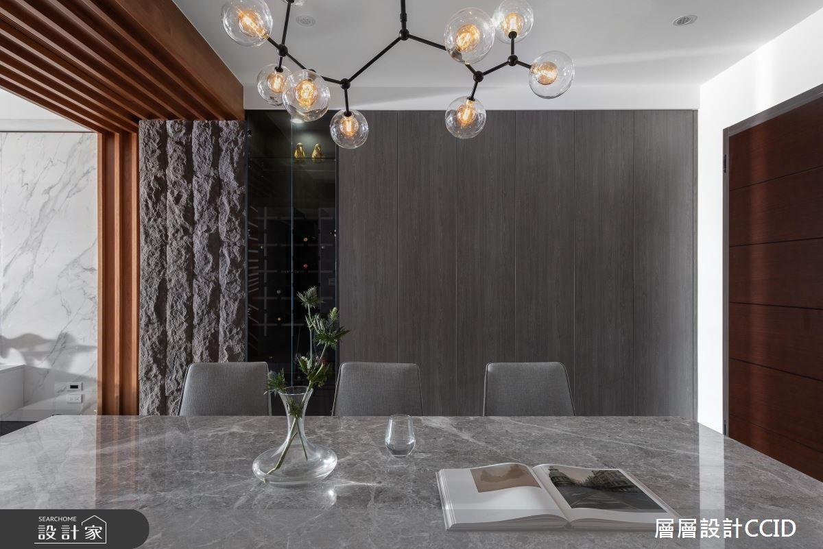 80坪新成屋(5年以下)_現代風餐廳案例圖片_層層室內裝修設計有限公司_層層_14之4