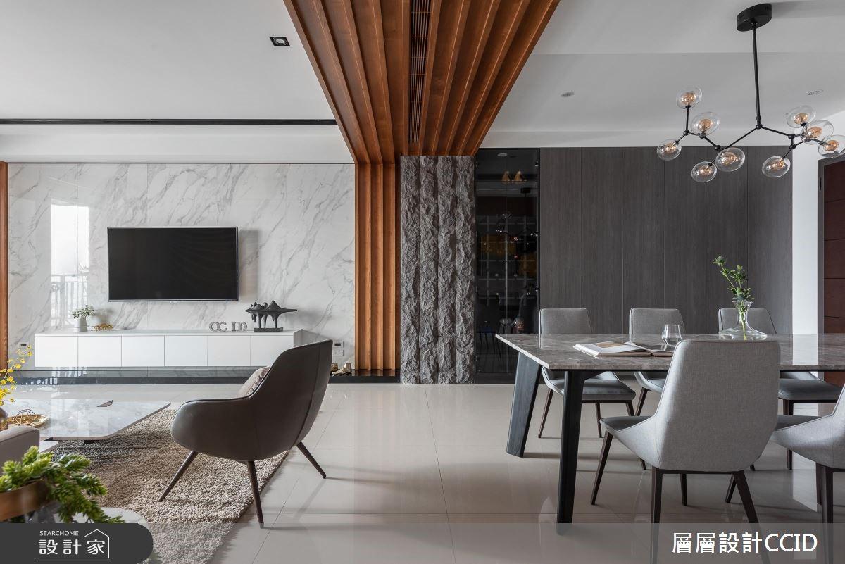 80坪新成屋(5年以下)_現代風客廳餐廳案例圖片_層層室內裝修設計有限公司_層層_14之3