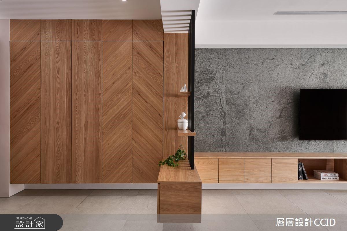 40坪新成屋(5年以下)_現代風客廳案例圖片_層層室內裝修設計有限公司_層層_15之2