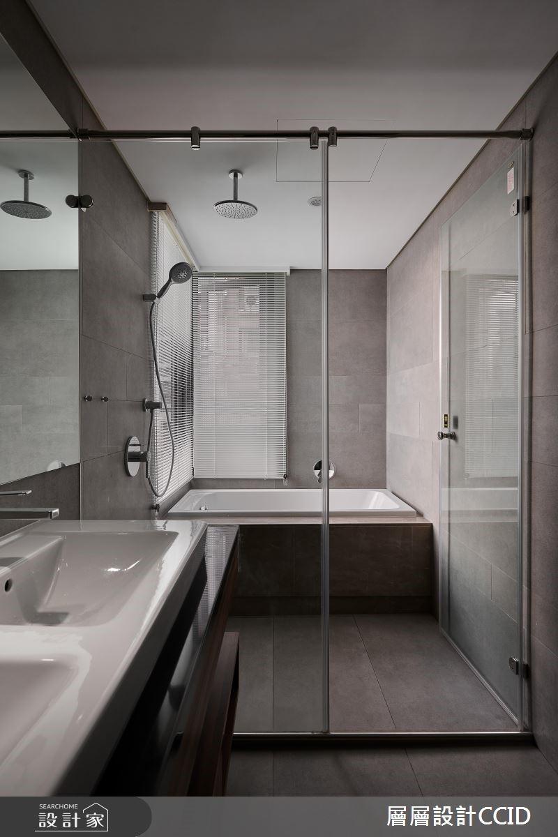 40坪新成屋(5年以下)_現代風浴室案例圖片_層層室內裝修設計有限公司_層層_15之22