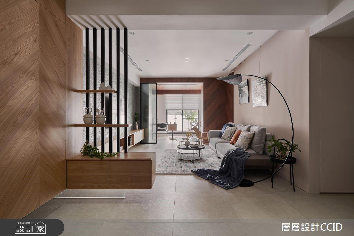 40坪新成屋(5年以下)_現代風客廳案例圖片_層層室內裝修設計有限公司_層層_15之4