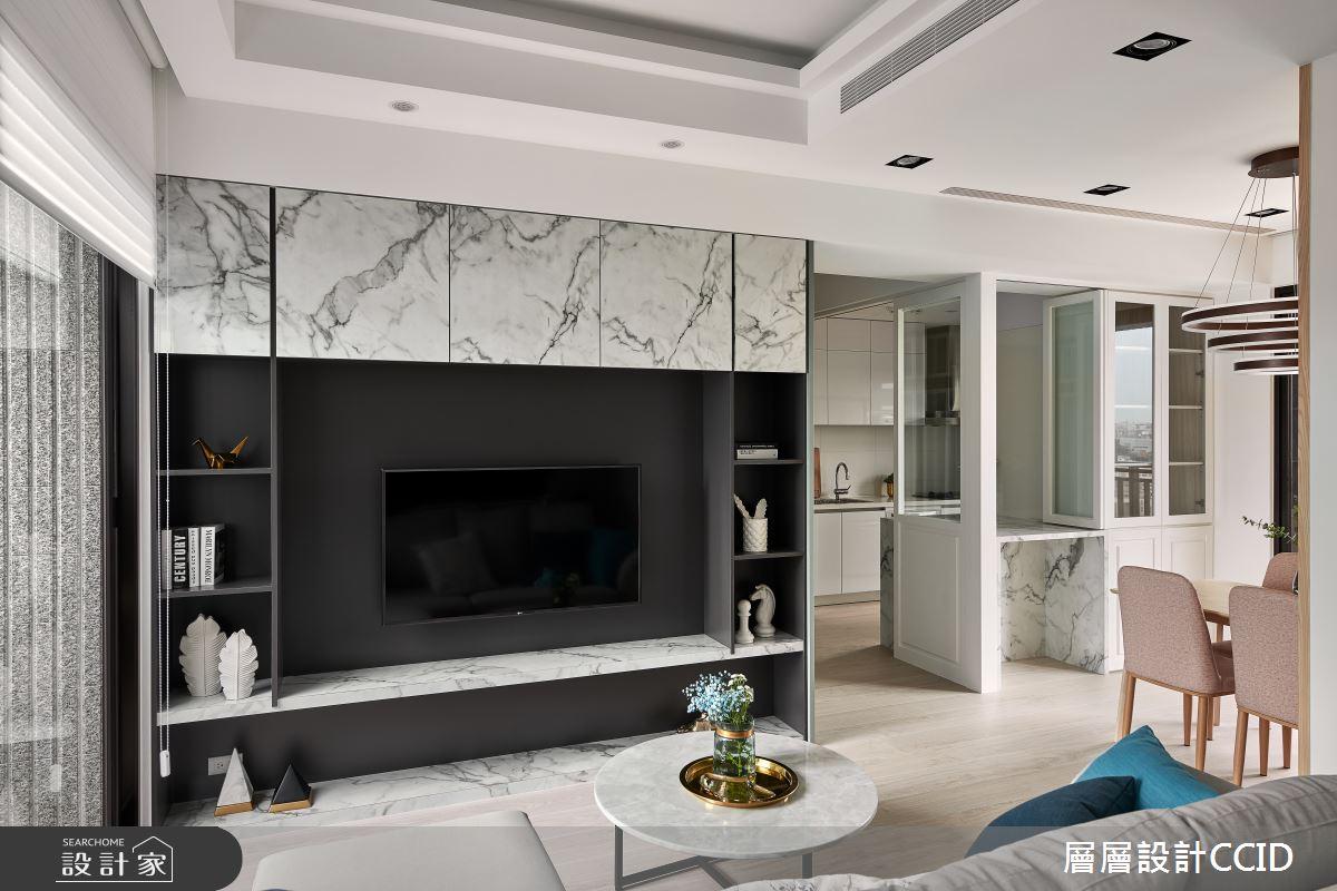 25坪新成屋(5年以下)_混搭風客廳案例圖片_層層室內裝修設計有限公司_層層_17之3