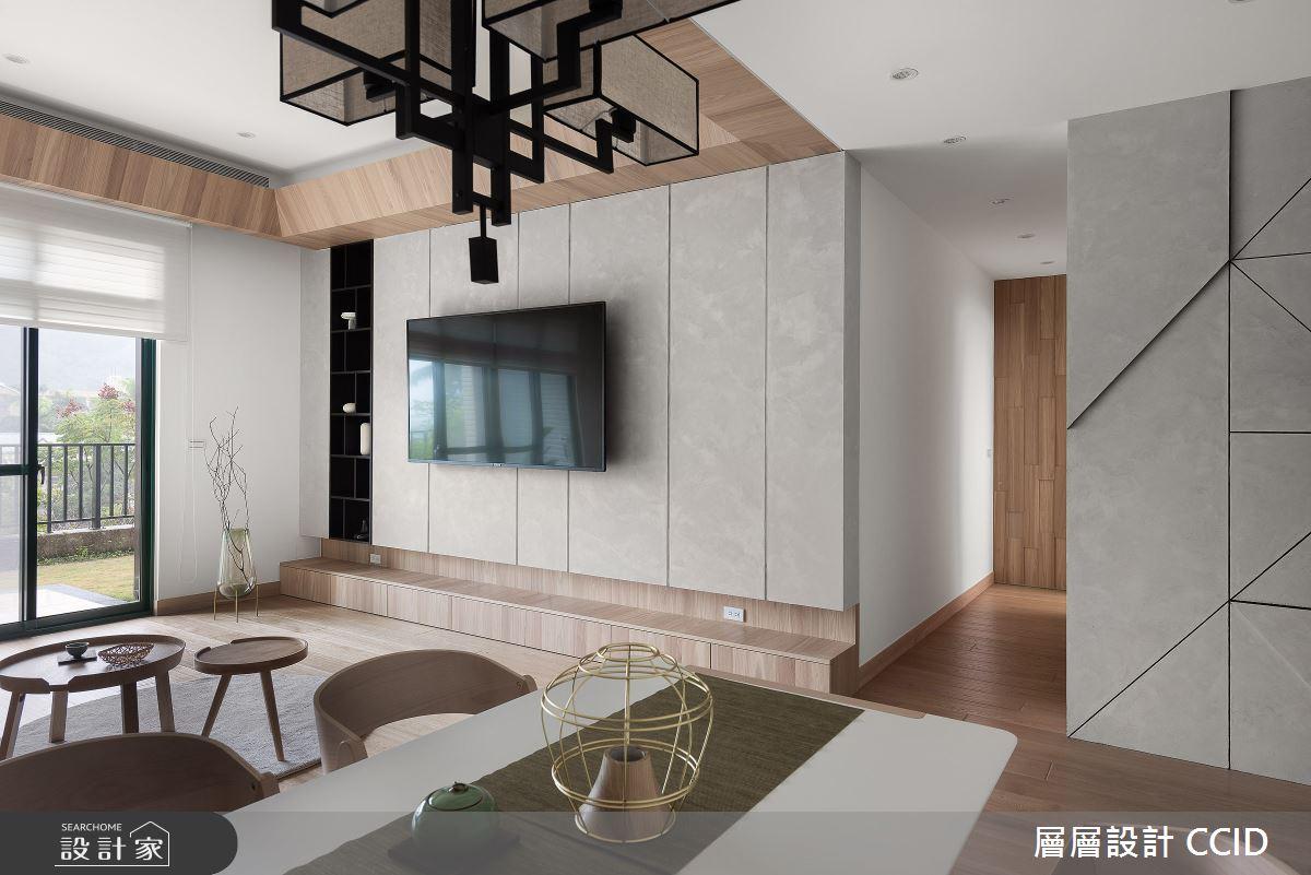 45坪新成屋(5年以下)_人文禪風客廳案例圖片_層層室內裝修設計有限公司_層層_20之9