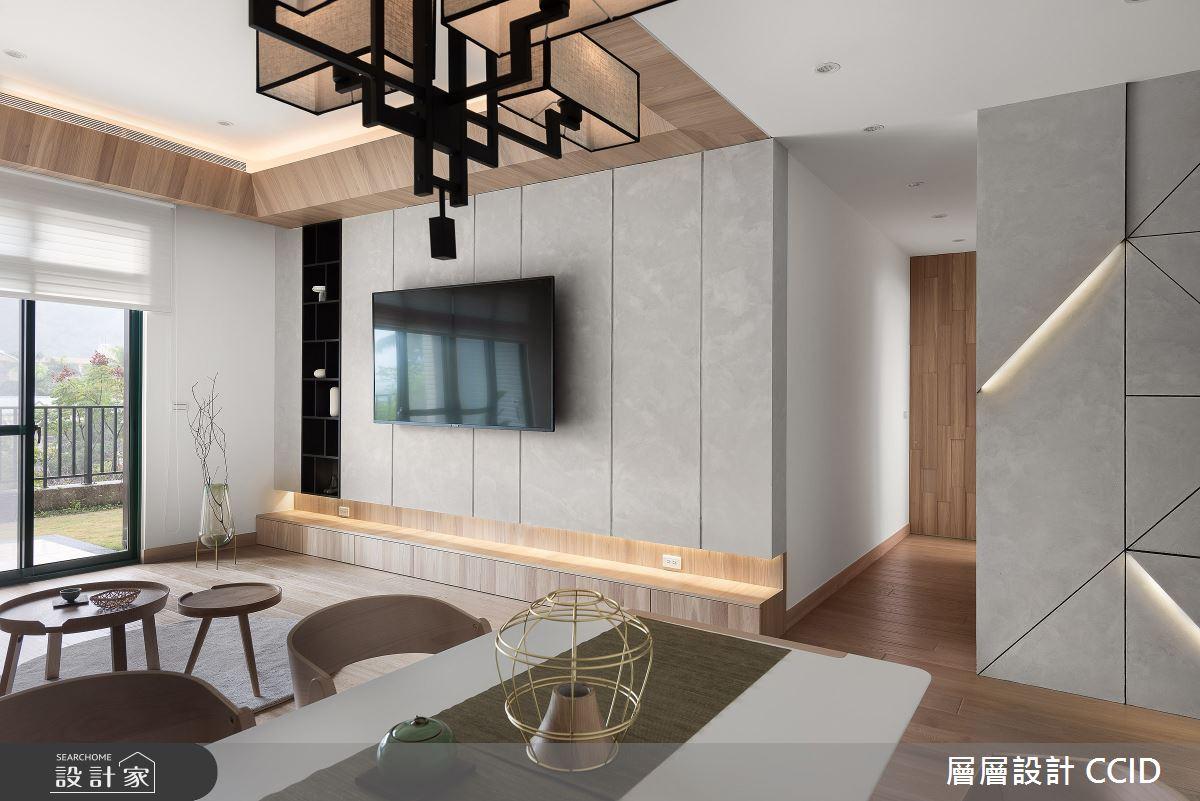 45坪新成屋(5年以下)_人文禪風客廳案例圖片_層層室內裝修設計有限公司_層層_20之10