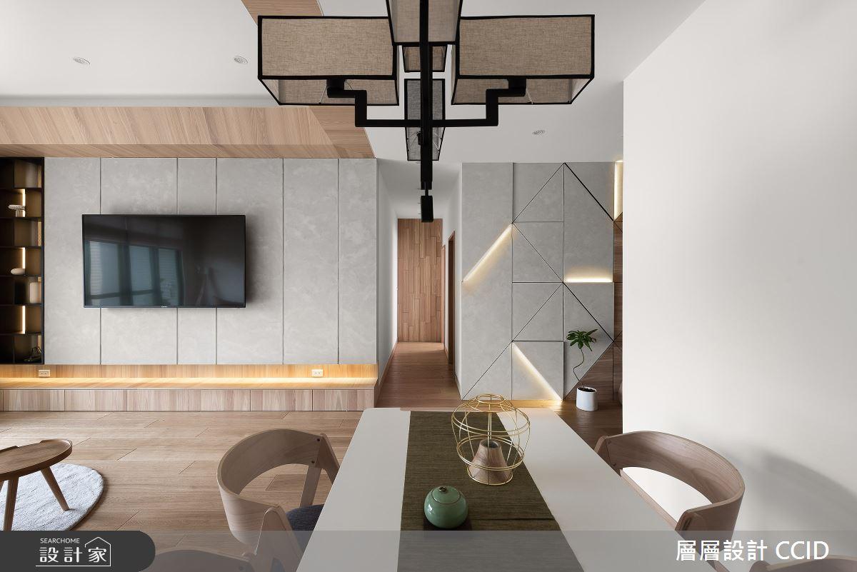 45坪新成屋(5年以下)_人文禪風客廳案例圖片_層層室內裝修設計有限公司_層層_20之5
