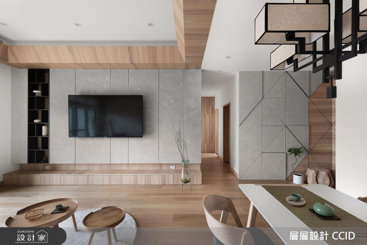45坪新成屋(5年以下)_人文禪風客廳餐廳案例圖片_層層室內裝修設計有限公司_層層_20之7