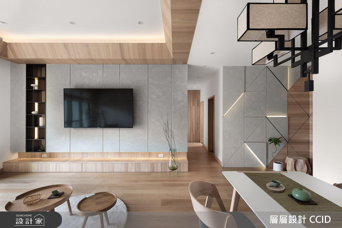 45坪新成屋(5年以下)_人文禪風客廳餐廳案例圖片_層層室內裝修設計有限公司_層層_20之8