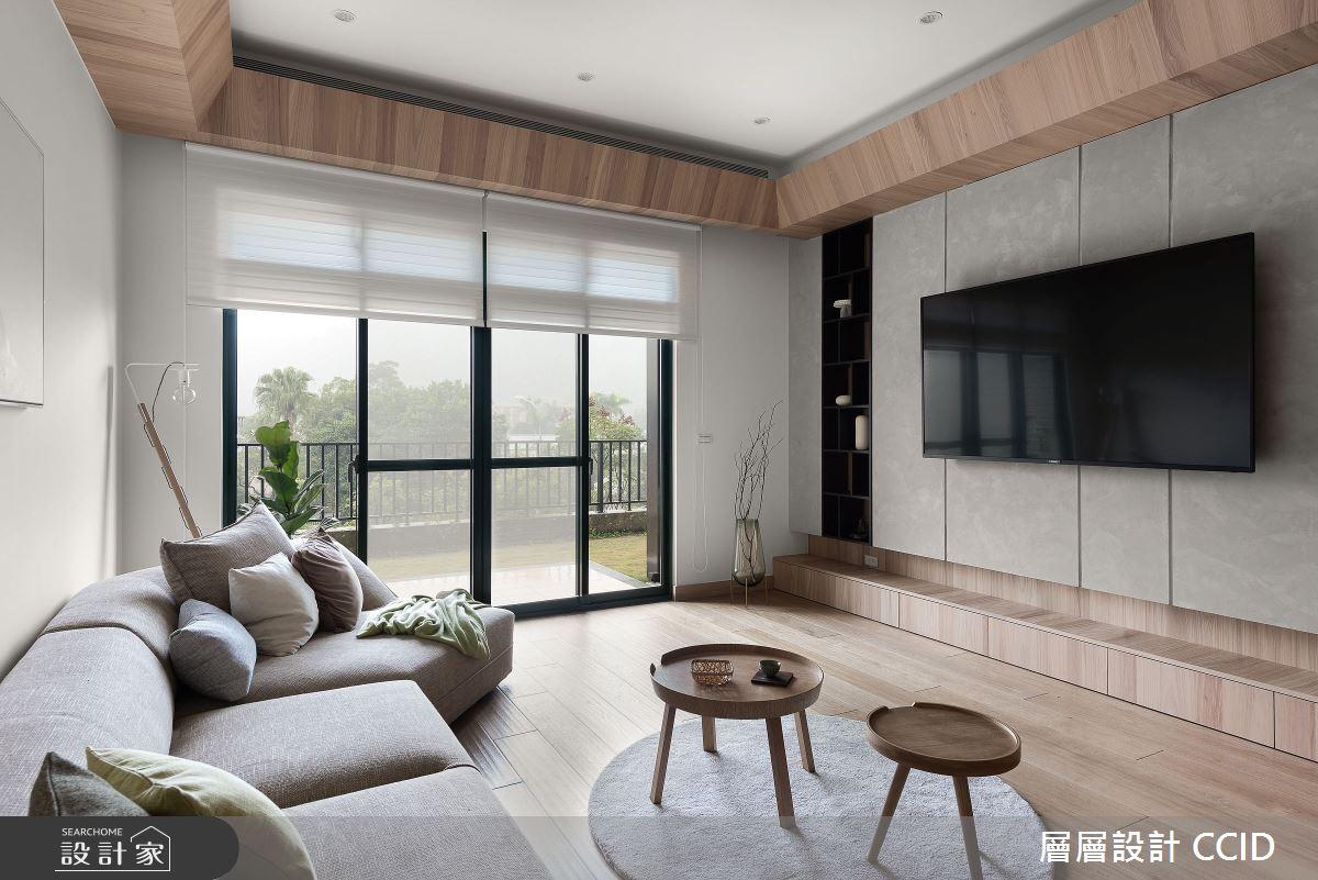 45坪新成屋(5年以下)_人文禪風客廳案例圖片_層層室內裝修設計有限公司_層層_20之11