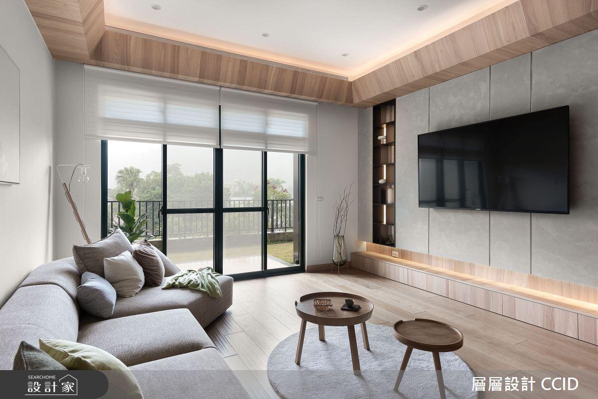 45坪新成屋(5年以下)_人文禪風客廳案例圖片_層層室內裝修設計有限公司_層層_20之12